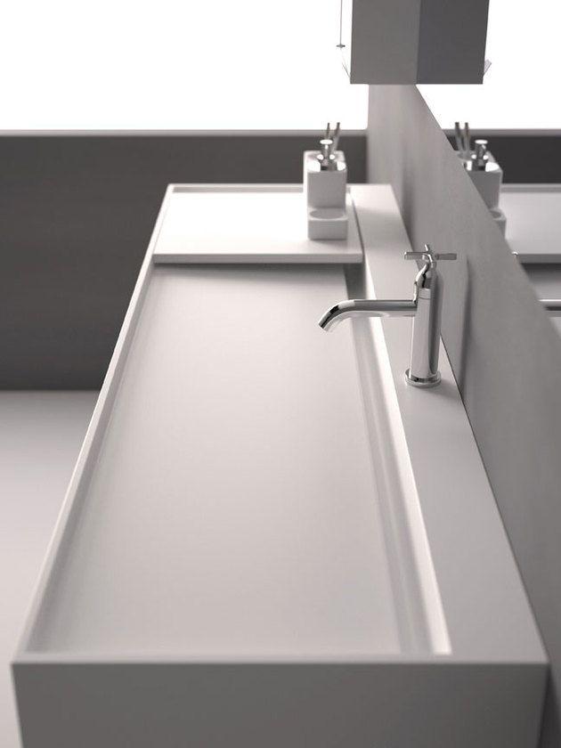 Beautiful sink concept. Love how minimal and sleek it looks.