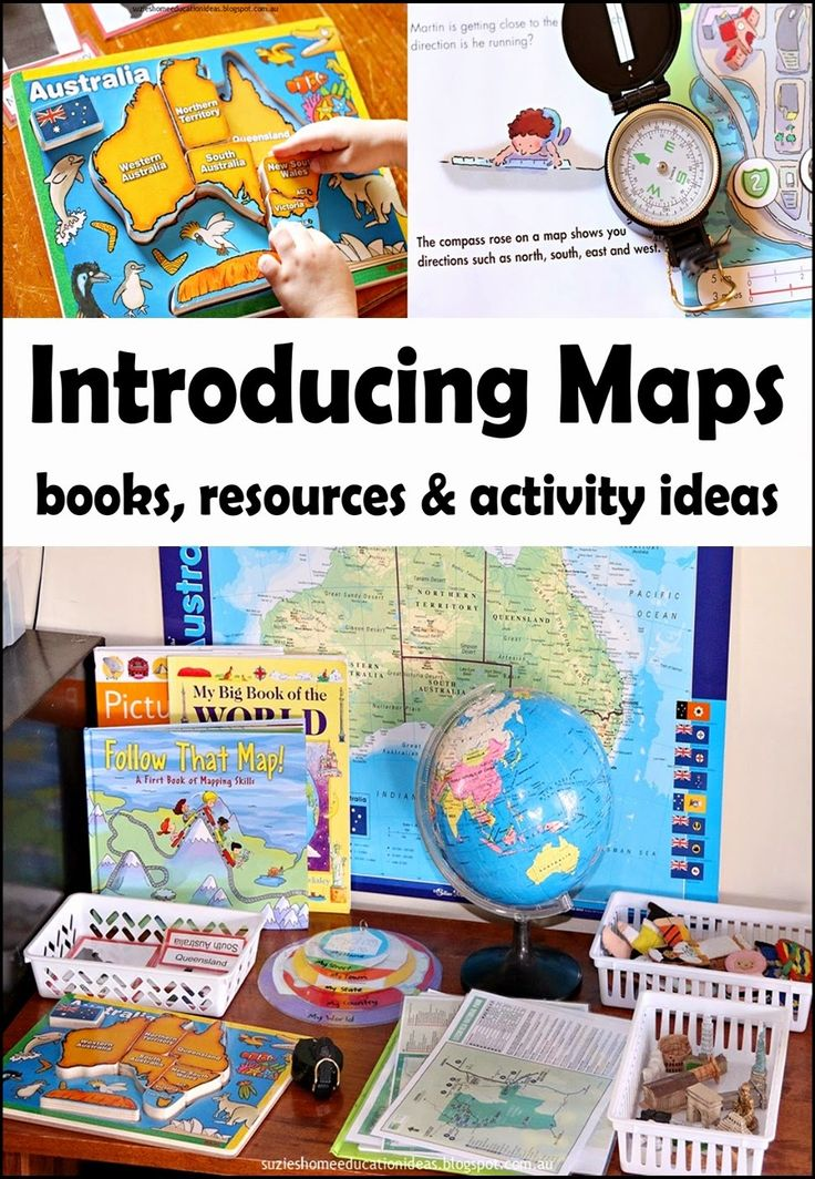Introducing Maps to Early Learners - Books, resources and hands-on activity ideas for learning about maps