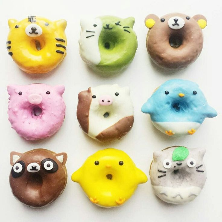 Animal Donuts Crafts Cute Cakes Donuts Teen Cakes