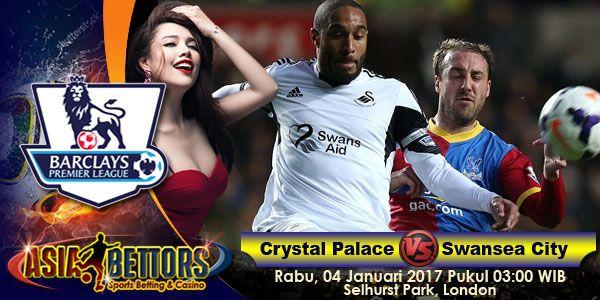 Prediksi Crystal Palace vs Swansea City, Starting Lineup Crystal Palace vs Swansea City, yang akan bertemu pada partai lanjutan Liga Primer Inggris yang rencananya akan digelar pada hari Rabu, 04 Januari 2017 Pukul 03:00 WIB dan disiarkan secara live dari Selhurst Park, London.