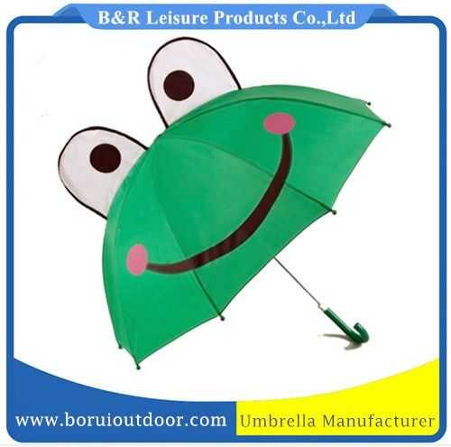 Cute frog umbrellas automatic open green fabric_cute kids umbrellas_baby umbrellas_small paraplyer