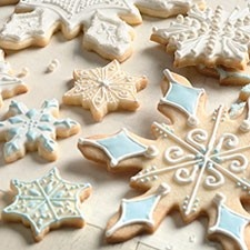 it's said these cookies hold their shape when baking....which is a big deal when you're making cut outs.