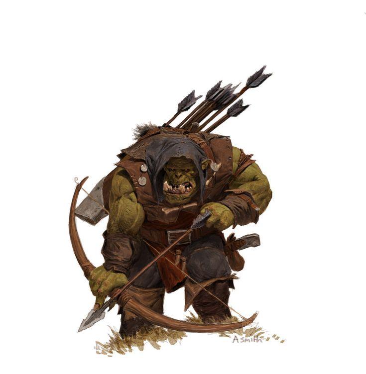 forgeworld/games workshop concept- orc arrer boy, adrian smith.