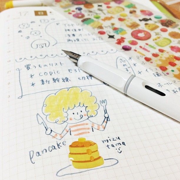 .@mizutamahanco | 今日のほぼ日手帳。ひーさびっさに ほぼ日を開きました(笑)。 可愛いシールを頂い... | Webstagram - the best Instagram viewer