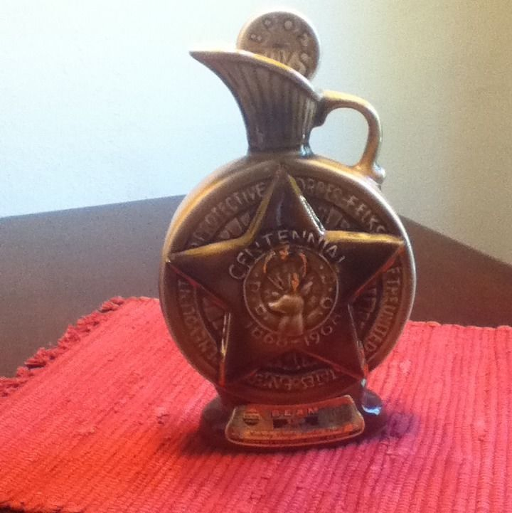 Details About Jim Beam Whiskey Decanters Porcelian Vintage