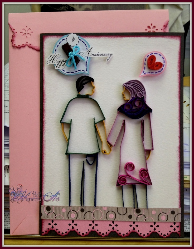 1st Anniversary Card Making Ideas Part - 47: Hanezz Art: Quilling-Happy Anniversary · Quilling CardsQuilling IdeasQuilling  ...