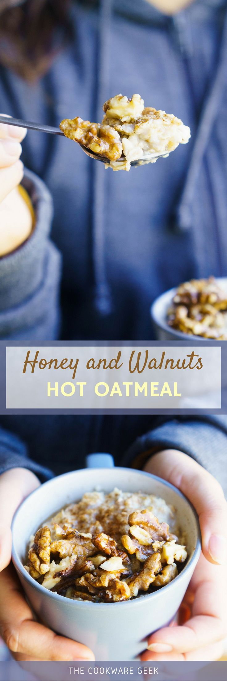 Honey and Walnuts Hot Oatmeal | The Cookware Geek