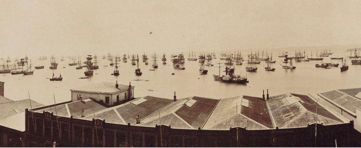 1849,  cerca de 800 barcos contabilizados en Valparaíso