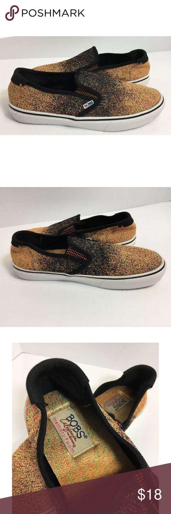 Bobs Skechers Black Neon Menace Lite Black Shoes Bobs Skechers Size 8 Memory Foam Menace Lite Black Slip On Shoes Skechers Shoes Flats & Loafers