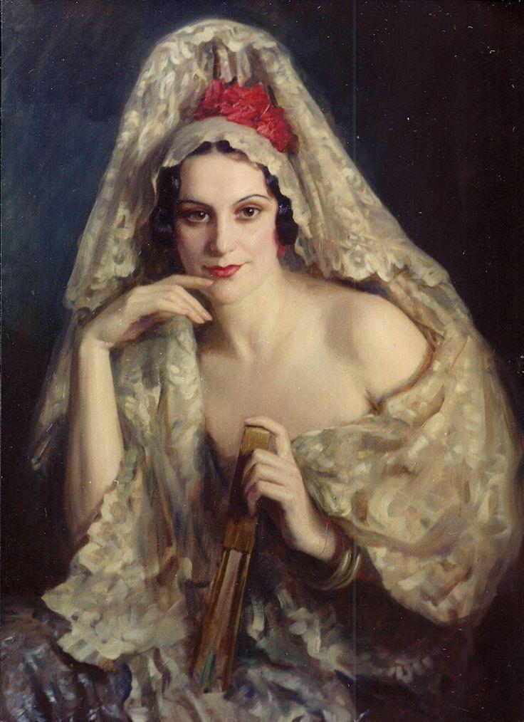 Portrait of Lucia by Henrique Medina de Barros (Portuguese, 1901- 1988)