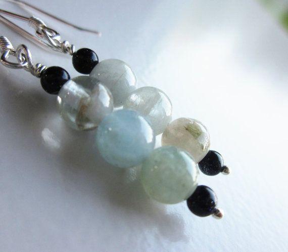 """something blue"", handcrafted aquamarine earrings..."