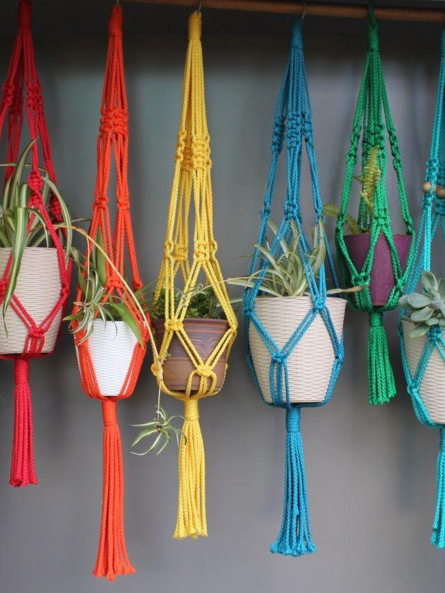 Revivre les Seventies avec des suspensions colorées ! #diy #couleurs #pot