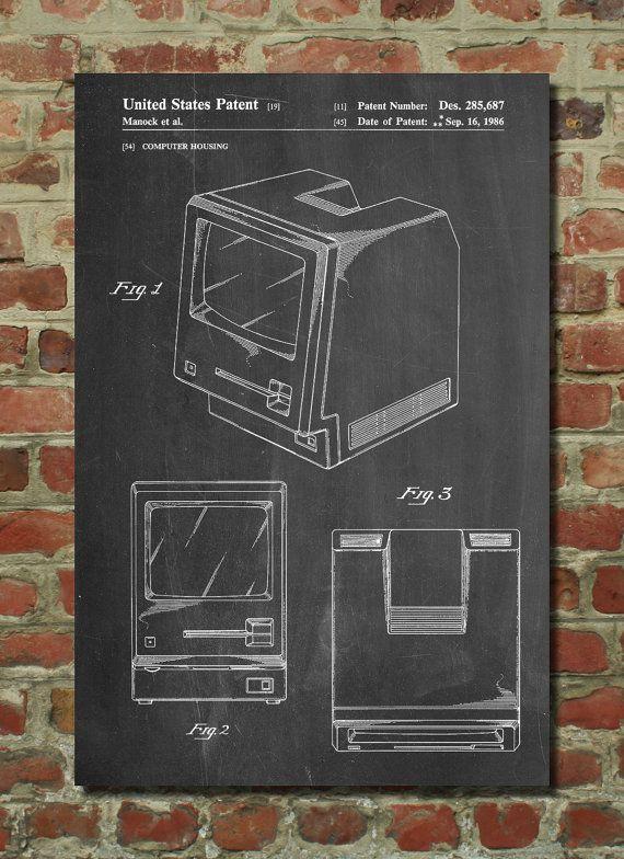First Apple Computer Poster, First Apple Computer Patent, First Apple Computer Print, First Apple Computer Art PP176