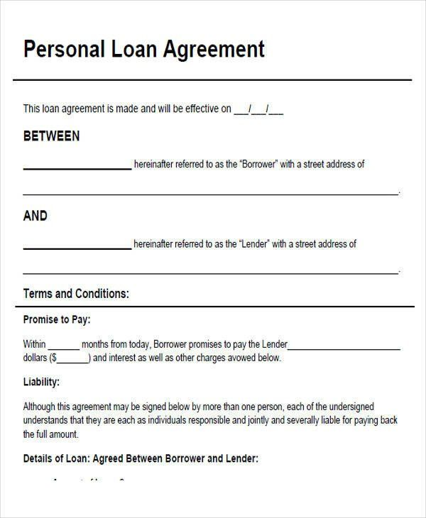 Personal Loan Forms Template Fresh 43 Simple Agreement Forms In 2020 Personal Loans Contract Template Loan