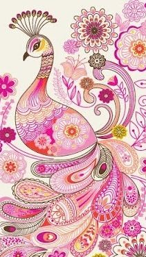 Pink paisley peacock- my favorite print AND my favorite bird all in one!