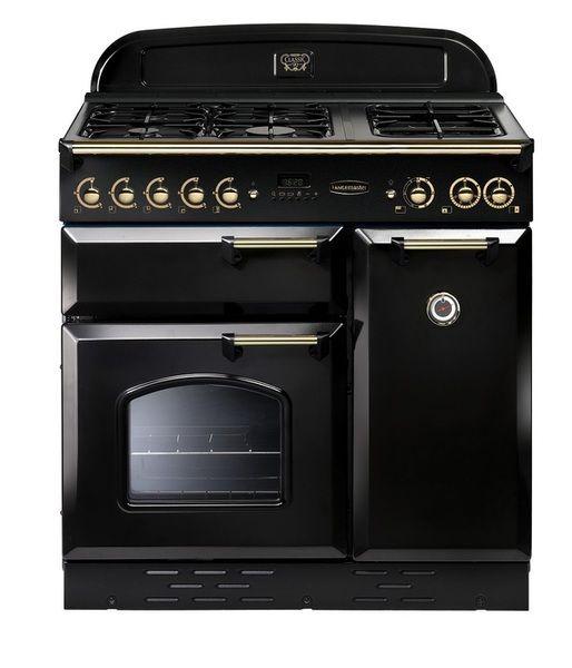 Rangemaster Classic 90cm LPG Range Cooker Black Brass