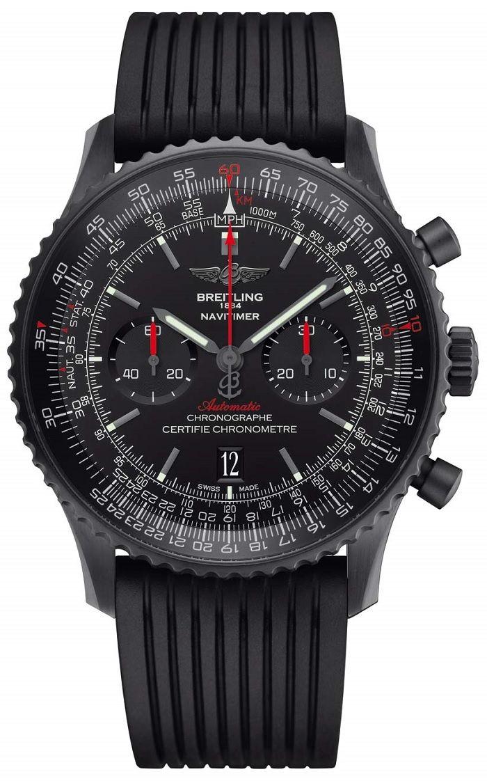 Breitling Navitimer 46 Blacksteel - Знаменитый авиационный хронограф Брайтлинг, теперь в черном | Luxurious Watches