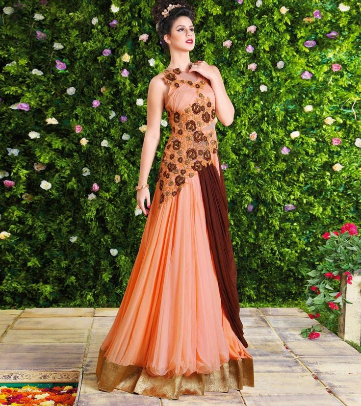 192 best Indian Designer Gowns images on Pinterest | Indian ...