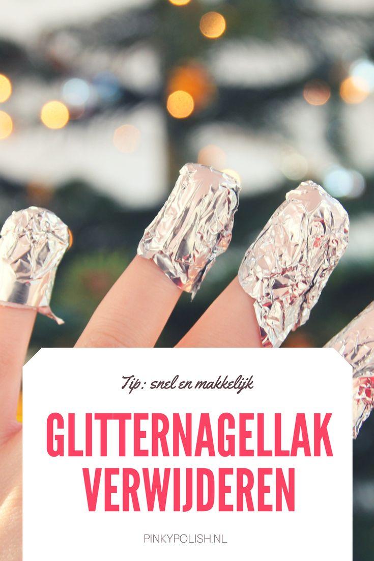Glitternagellak verwijderen moeilijk en rommelig? Nee hoor, met de tips in deze tutorial haal je nagellak met glitters binnen 5 minuten van je nagels!