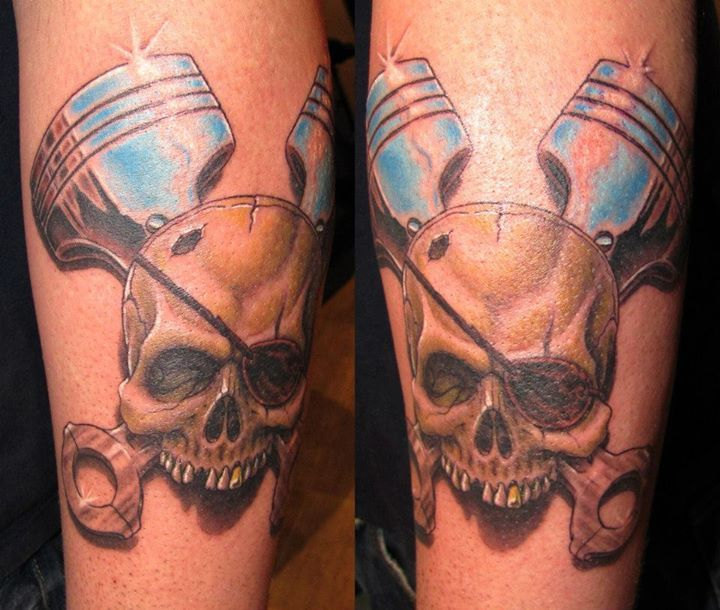 43 best realistic skull and pistons tattoo images on pinterest piston tattoo skulls and body mods. Black Bedroom Furniture Sets. Home Design Ideas