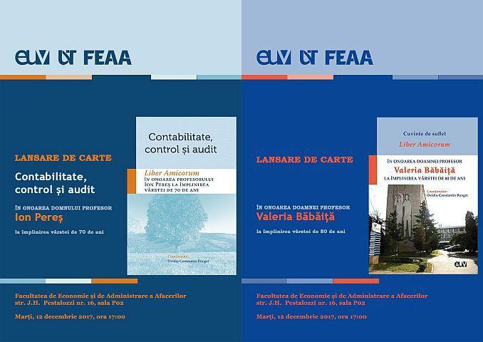 """În contextul sărbătoririi a 50 ani de la înființarea Facultății de Economie și de Administrare a Afecerilor din cadrul Universității de Vest din Timișoara (""""FEAA50""""), Departamentul Contabilitate și…"""