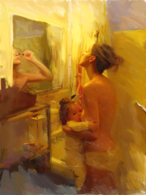 Breastfeeding while everything else - blue milk