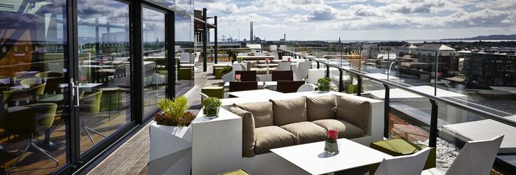 Rooftop Bar Dublin, Dublin City Rooftop Bars, Grand Canal Bars, The Marker Rooftop Bar & Terrace