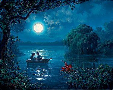 The Little Mermaid - Kiss the Girl - Rodel Gonzalez - World-Wide-Art.com - $495.00 #Disney #RodelGonzalez