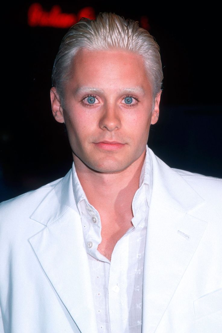 A bleached look while filming Fight Club   - HarpersBAZAAR.com