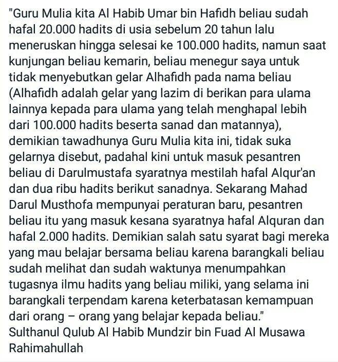 Dar El Mustafa Habib Umar bin Hafidz