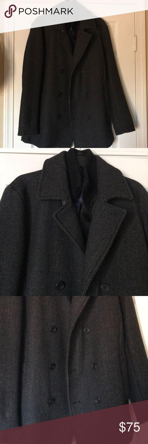 "American Rag Coat Men's Medium American Rag Coat Men's Medium, Grey,Inside Zip, Length 32"", Chest 42"", Sleeve 26"", Perfect Condition American Rag Jackets & Coats Pea Coats"