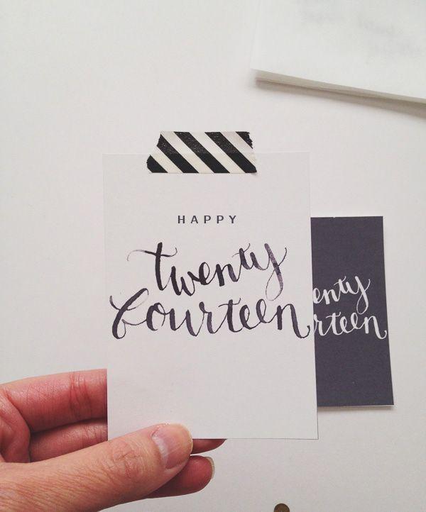 Twenty Fourteen Card by paislee press (free download)