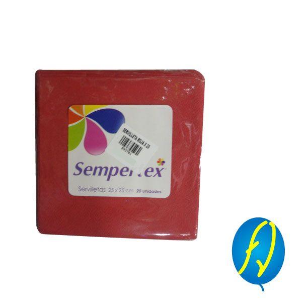 SERVILLETA ROJA X 20 SEMPERTEX, un producto más de Piñatería Fiesta Virtual de Colombia - lo puedes ver en http://bit.ly/2smFhsh. #FiestaVirtual