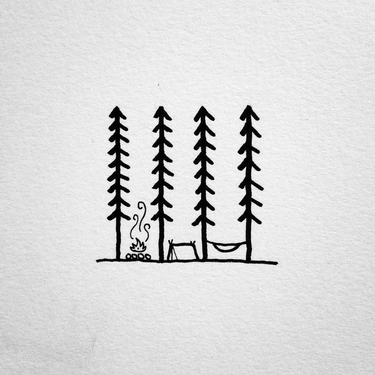 Doodling up some ideas for a project. #drawing #doodle #penandink #micron #art #doodling #camping #campvibes #campfire #hammock #hammockcamping #hammocklife #homeiswhereyoupitchit #trees #forest #portland #oregon #pnw #upperleftusa #linework #lineweight #tattoodesign #design #graphicdesign #illustration #illustree #camplife by @david_rollyn