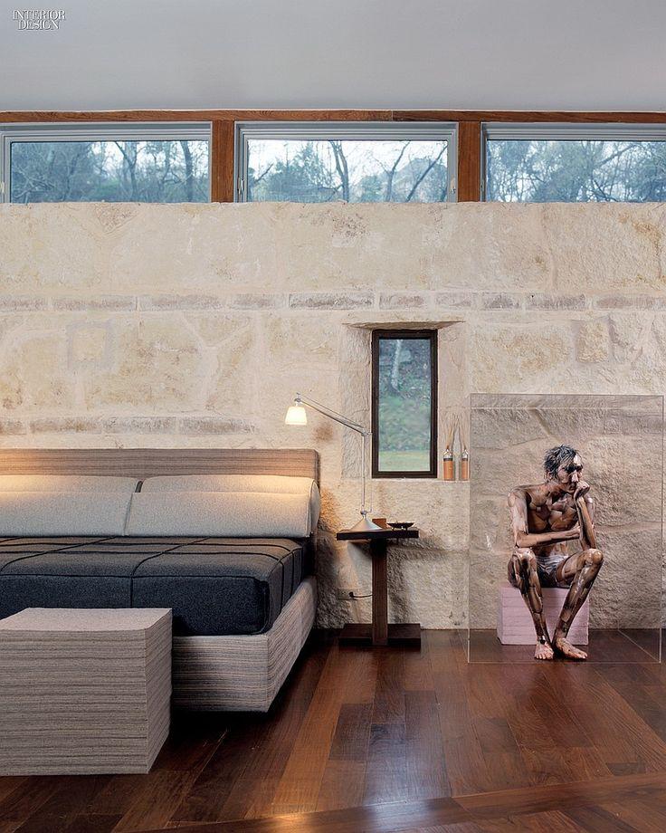 2014 Hall of Fame Inductees: David Lake and Ted Flato | An Austin house, 2003. #design #interiordesign #interiordesignmagazine #architecture #furniture #decor