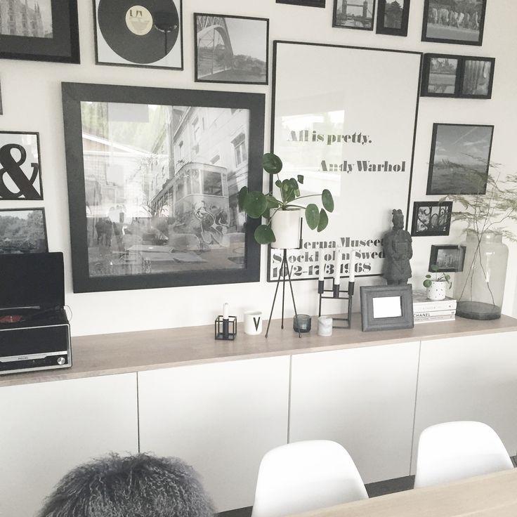 ikea hack   ikea besta   dresser  dressoir   decoration  decoratie   warhol   black white grey