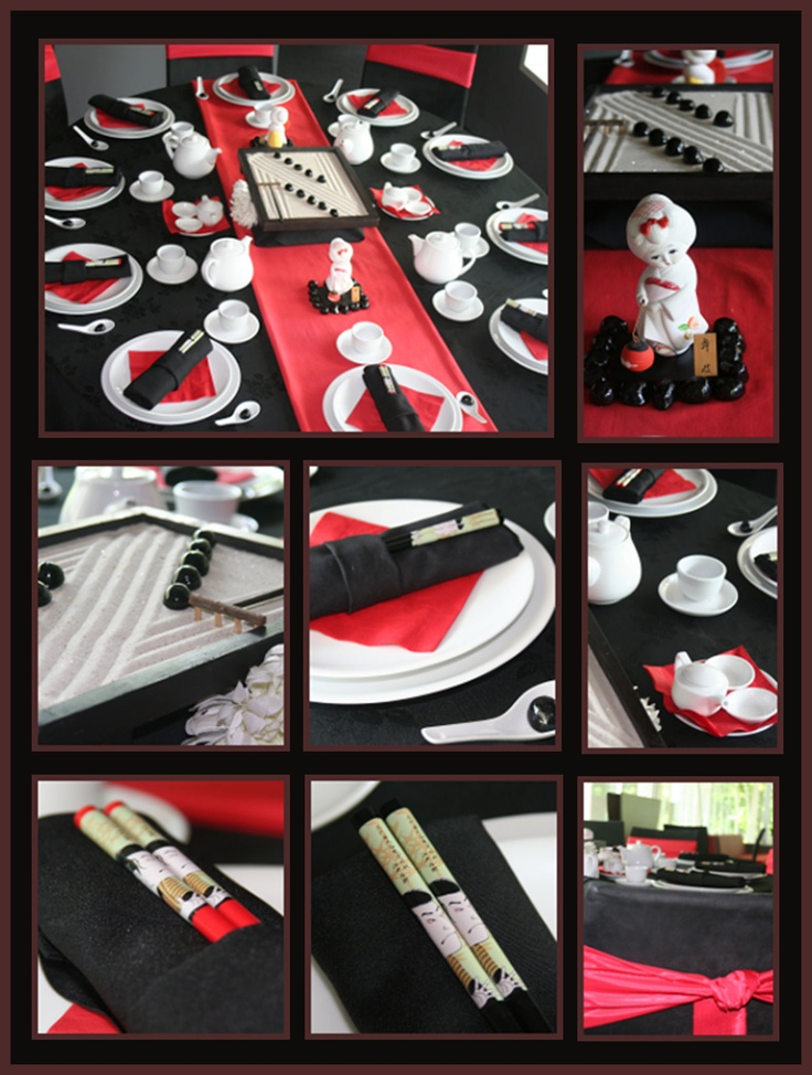 Japanese Luncheon Table Setting - featured in Catering Plus Magazine 2009.
