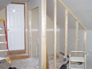 Looks similar to the attic closet I built, except mine is a little bigger, more of a walk-in.