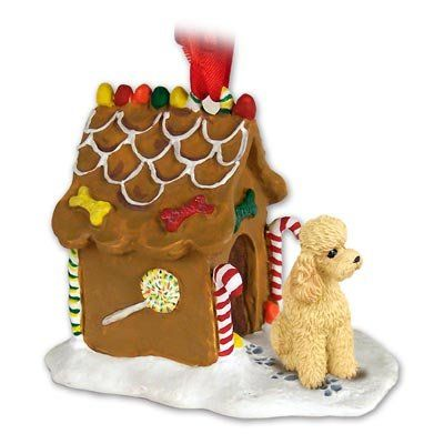 Poodle Apricot Gingerbread House Christmas Ornament