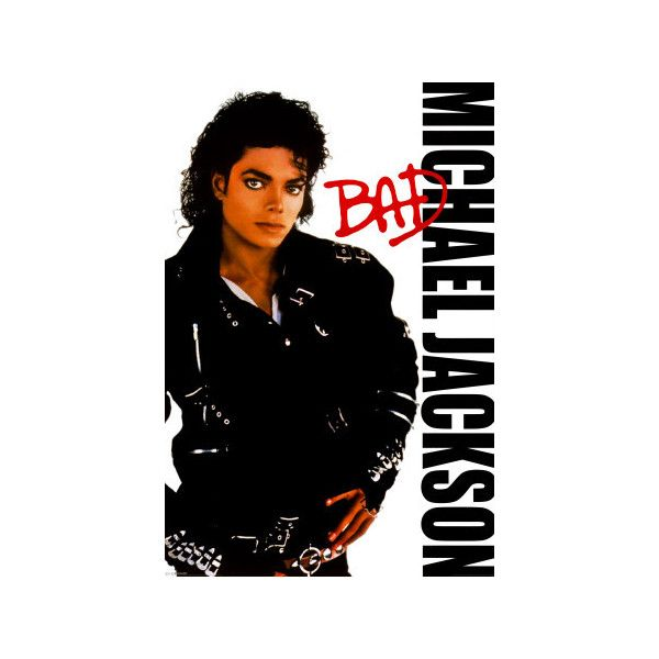 Michael Jackson Bad Poster 9 99 Liked On Polyvore Featuring