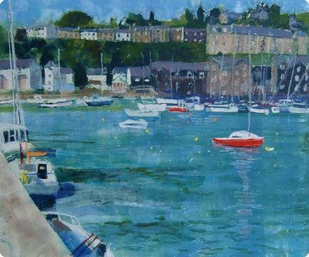 Porthmadog Harbour - Red Boats  By Anne Aspinall