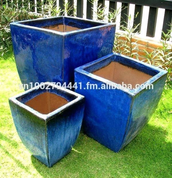 Cobalt Blue Outdoor Pots Ceramic Large Flower Garden Uk Lar Outdoor Pots Large Plant Pots Cheap Plant Pots