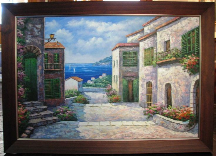 Original Greek Isle Street scene - Artist unknown