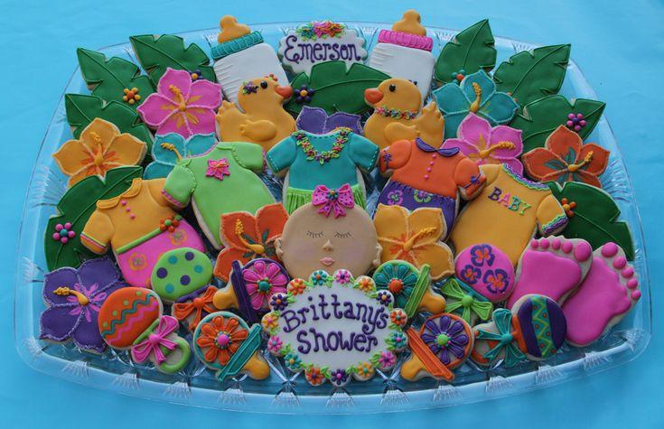 luau hawaiian baby shower theme