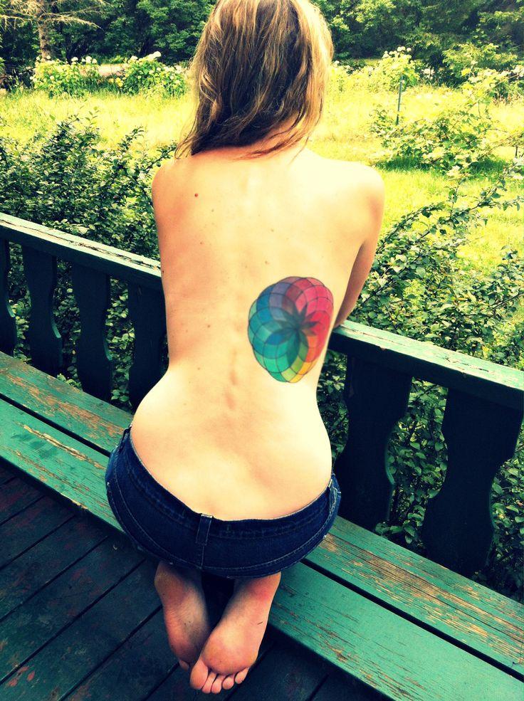 my color wheel tattoo