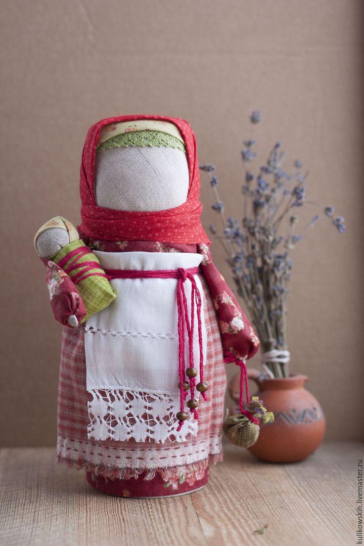Кукла народная Мамушка Хозяюшка - бордовый, мамушка, мама и малыш, мама, народная кукла