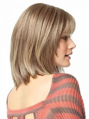 Soft Shoulder Length Hairstyles for Round Faces-2