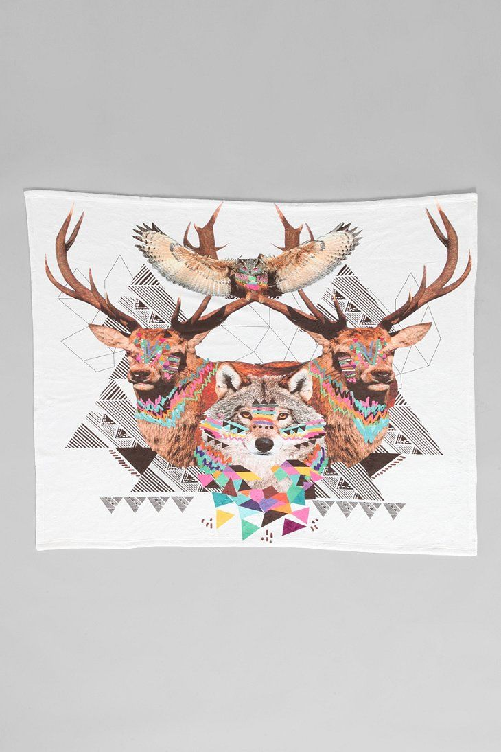 Kris Tate For DENY Forest Fleece Blanket - Urban Outfitters