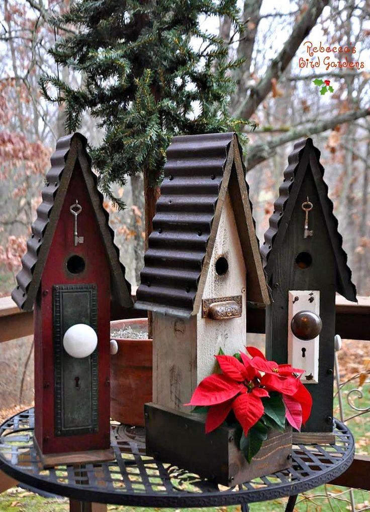 Rustic Recycled Birdhouses and Feeders Bianka Arredondo Gribble