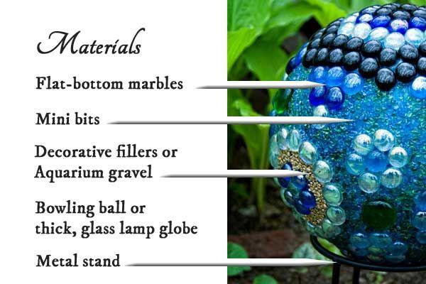 Materials for making decorative garden art balls
